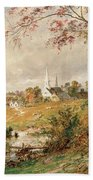 Autumn Landscape Beach Towel