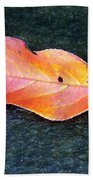 Autumn Leaf In August Beach Towel