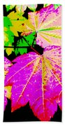 Autumn Leaves Holiday Style Beach Towel