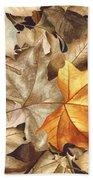 Autumn Leaves Series 2 Beach Sheet