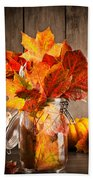 Autumn Leaves Still Life Beach Towel