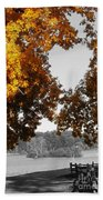 Autumn Love  Beach Towel