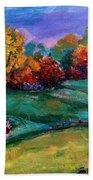 Autumn Meadow Beach Towel