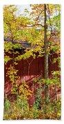 Autumn Michigan Barn  Beach Towel