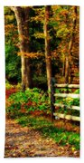 Autumn Moment - Allaire State Park Beach Towel