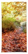 Autumn Morning Beach Towel