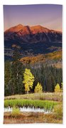 Autumn Mountain Landscape, Colorado, Usa Beach Towel