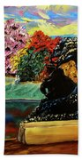 Autumn Music Beach Towel