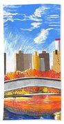 Autumn Oasis Beach Towel