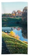 Autumn On Lake Inspiration Beach Towel