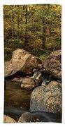 Autumn On The Creek  Beach Towel