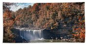 Autumn On The Cumberland  Cumberland Falls Beach Towel
