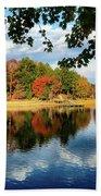 Autumn On The Lake  Beach Towel
