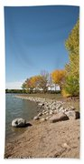 Autumn On The Water Beach Towel