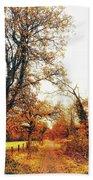 Autumn On White Beach Sheet