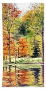 Autumn Oranges Beach Towel