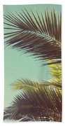 Autumn Palms Beach Towel