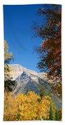Autumn Peaks Beach Sheet