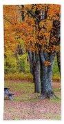 Autumn Picnic Beach Towel