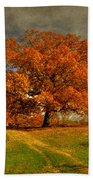 Autumn Picnic On The Hill Beach Towel
