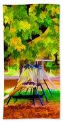 Autumn Playground 1 Beach Towel
