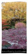 Autumn Purple Beach Towel
