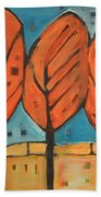 Autumn Quilt Beach Towel