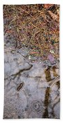 Autumn Rain On Concrete Beach Towel