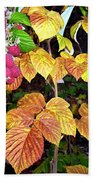 Autumn Raspberries Beach Towel