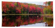 Autumn Reflected Beach Towel