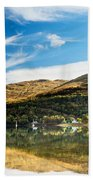 Autumn Reflection, Loch Long Beach Towel
