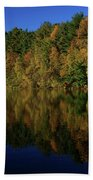 Autumn Reflection Of Colors Beach Towel