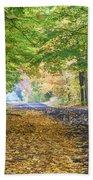 Autumn Road 2 Beach Towel