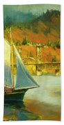 Autumn Sail Beach Towel by Steve Henderson