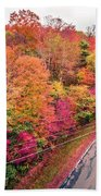 Autumn Season And Color Changing Leaves Season Beach Towel