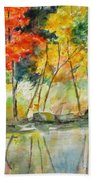 Autumn Splender Beach Towel