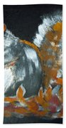 Autumn Squirrel Beach Towel