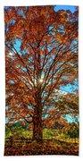 Autumn Star- Paint Beach Towel
