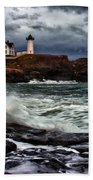 Autumn Storm At Cape Neddick Beach Towel