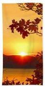 Autumn Sunrise Beach Towel