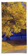 Autumn Sunrise In The Country Beach Towel