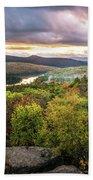 Autumn Sunset In The Catskills Beach Towel