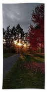 Autumn Sunset, Shawnigan Lake Beach Towel