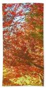 Autumn Trees Digital Watercolor Beach Towel