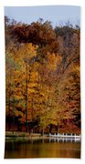 Autumn Trees Beach Towel