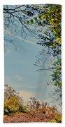 Autumn Up Hill Beach Towel