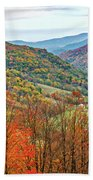 Autumn Valley Beach Towel