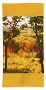 Autumn View, Montelle Winery, Augusta, Missouri Beach Towel