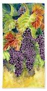 Autumn Vineyard In Its Glory - Batik Style Beach Towel