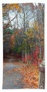Autumn Walk At West Thompson Lake  Beach Towel